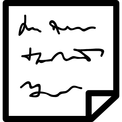 a note with text vector logo