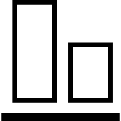 Object alignment at the bottom vector logo