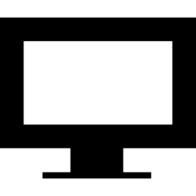 Screen of a monitor with gross border around vector logo