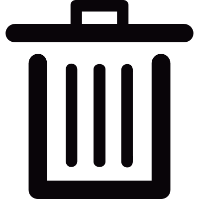 Trash container side vector logo