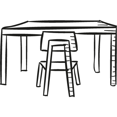 Desk with Chair vector logo
