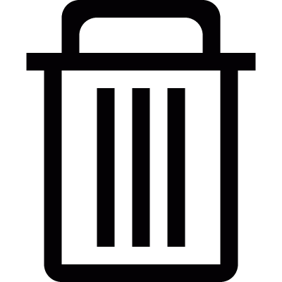Big trash container from side view vector logo