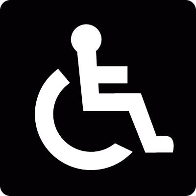 Wheelchair Accessibility Sing vector logo