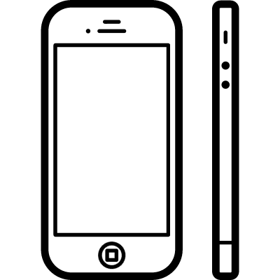 Phone from two view points front and side vector logo