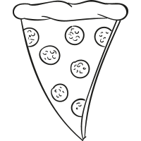 Pepperoni Pizza Slice vector