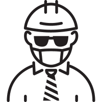 Foreman with Helmet vector