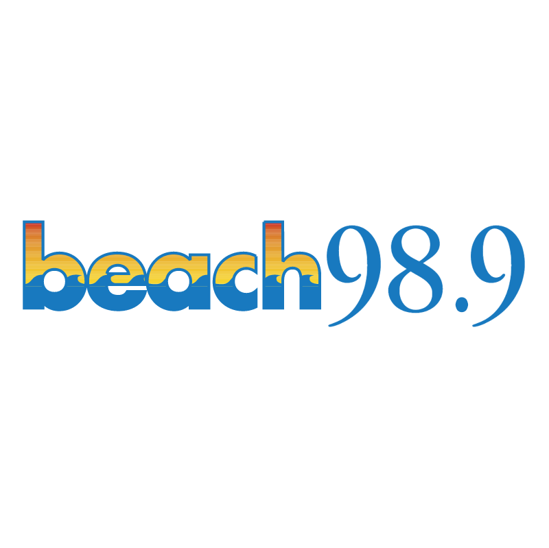 Beach 98 9 vector logo