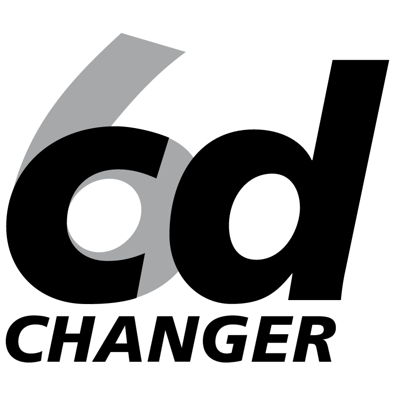 CD changer 6 vector logo
