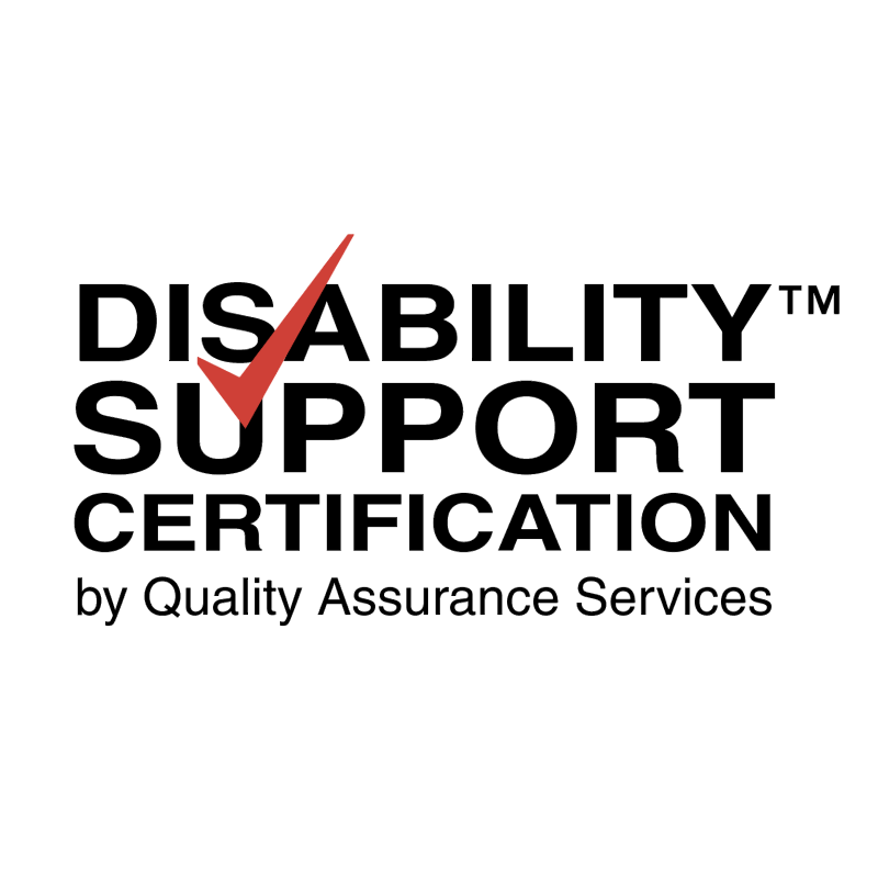 Disability Support Certification vector