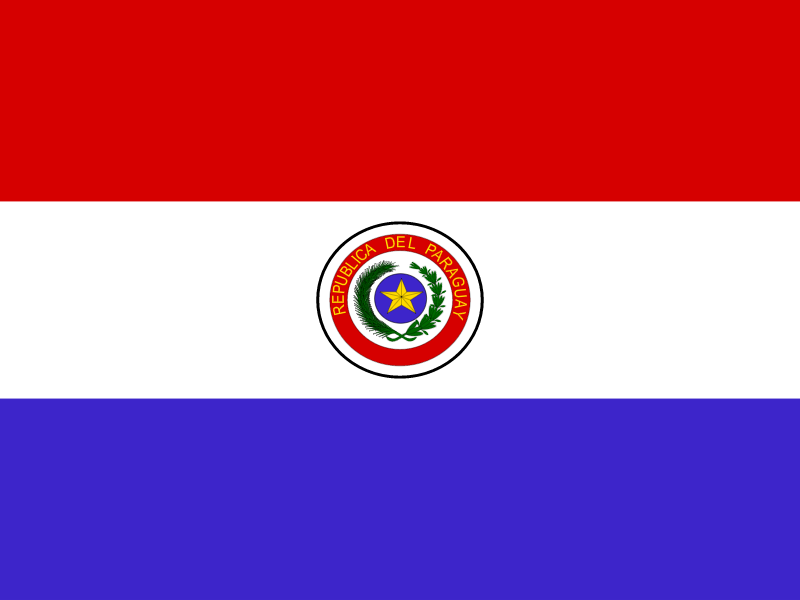 Flag of Paraguay vector logo
