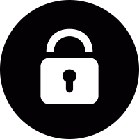 Lock in a circle vector