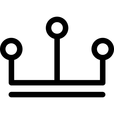 Connector lines and circle outlines logo