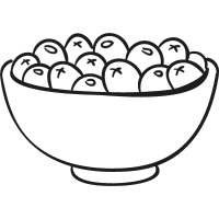 Bowl of Olives vector