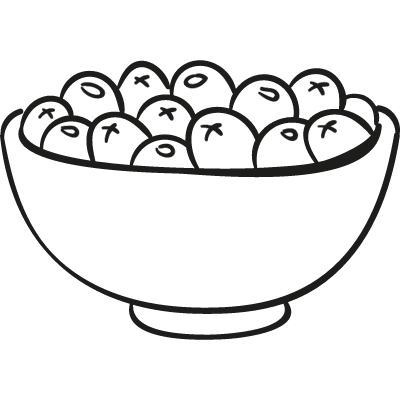 Bowl of Olives vector logo