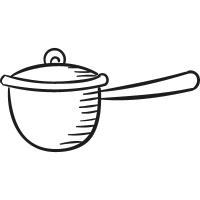 Casserole with Cover vector