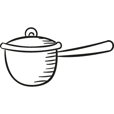 Casserole with Cover vector logo