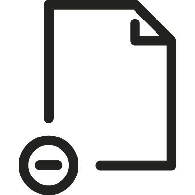 File with Minus Sign vector logo