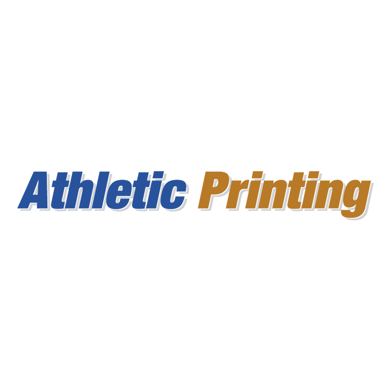 Athletic Printing vector
