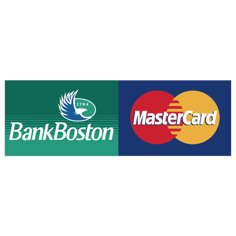 Bank Boston MasterCard vector