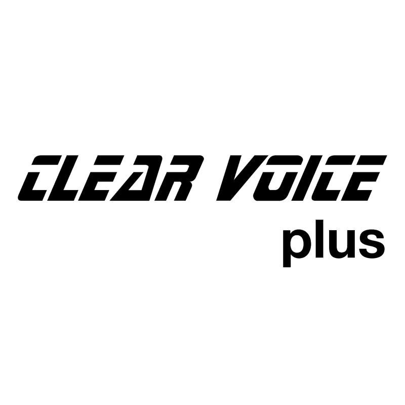 Clear Voice plus vector