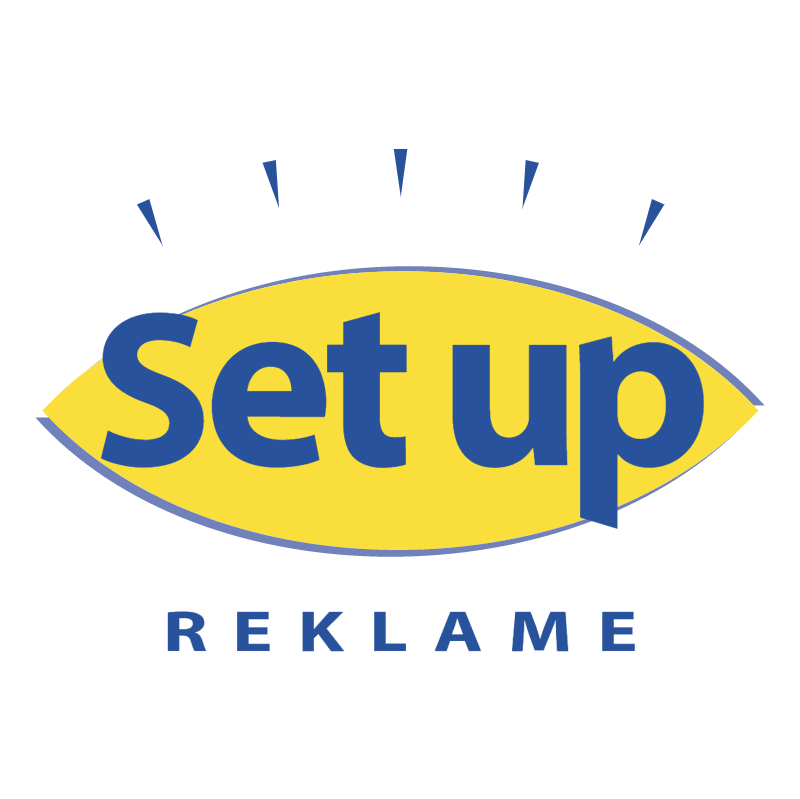 Set up reklame vector