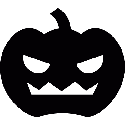 Scary Pumpkin vector logo