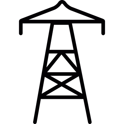 Energy tower vector logo