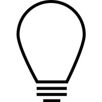 Lightbulb with screw vector