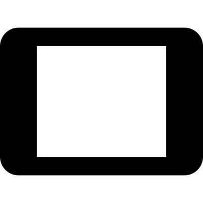 Tablet with blank screen vector logo