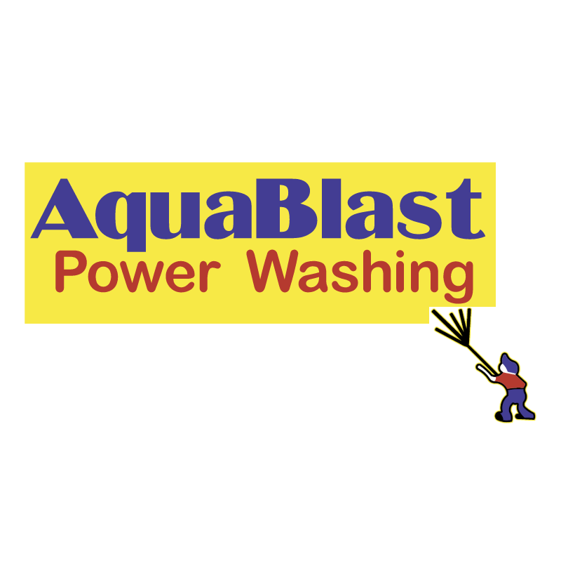 Aquablast Power Washing 55073 vector logo