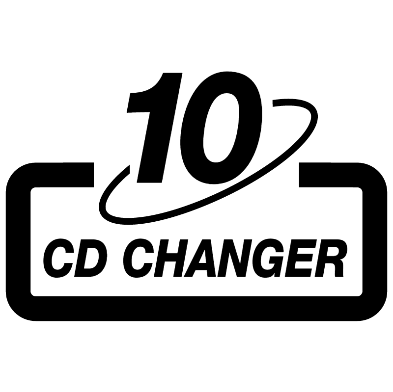 CD changer 10 vector logo