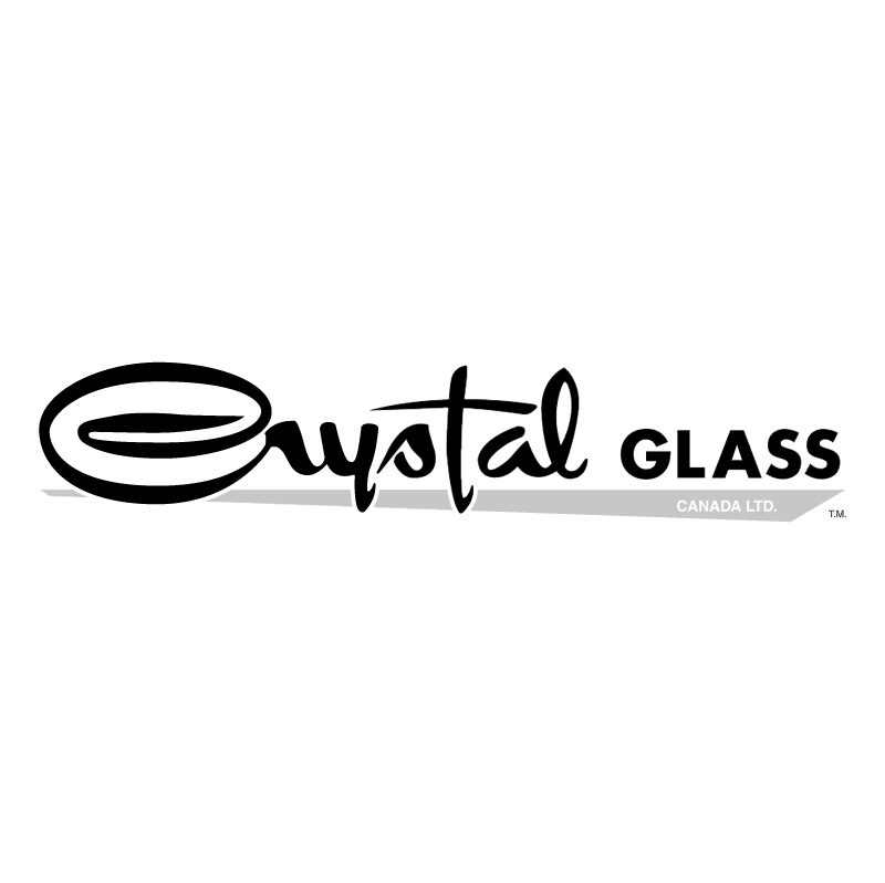 Crystal Glass vector logo