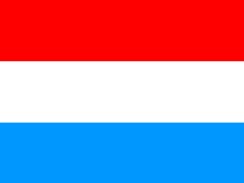 Flag of Luxembourg vector
