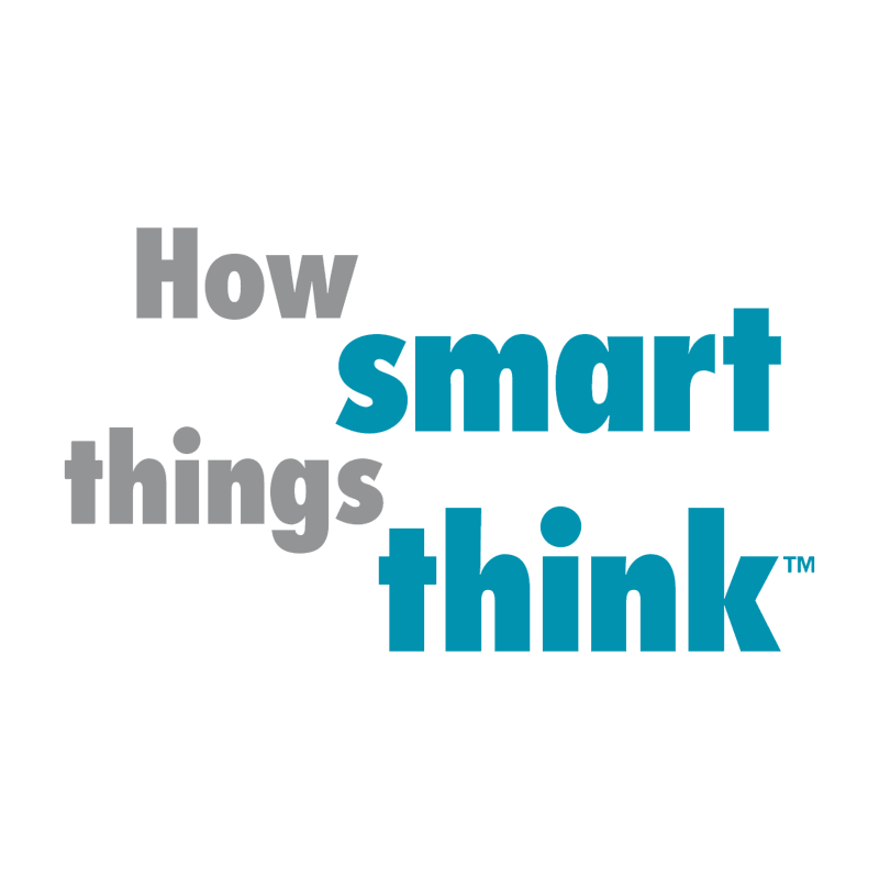 How smart things think vector logo