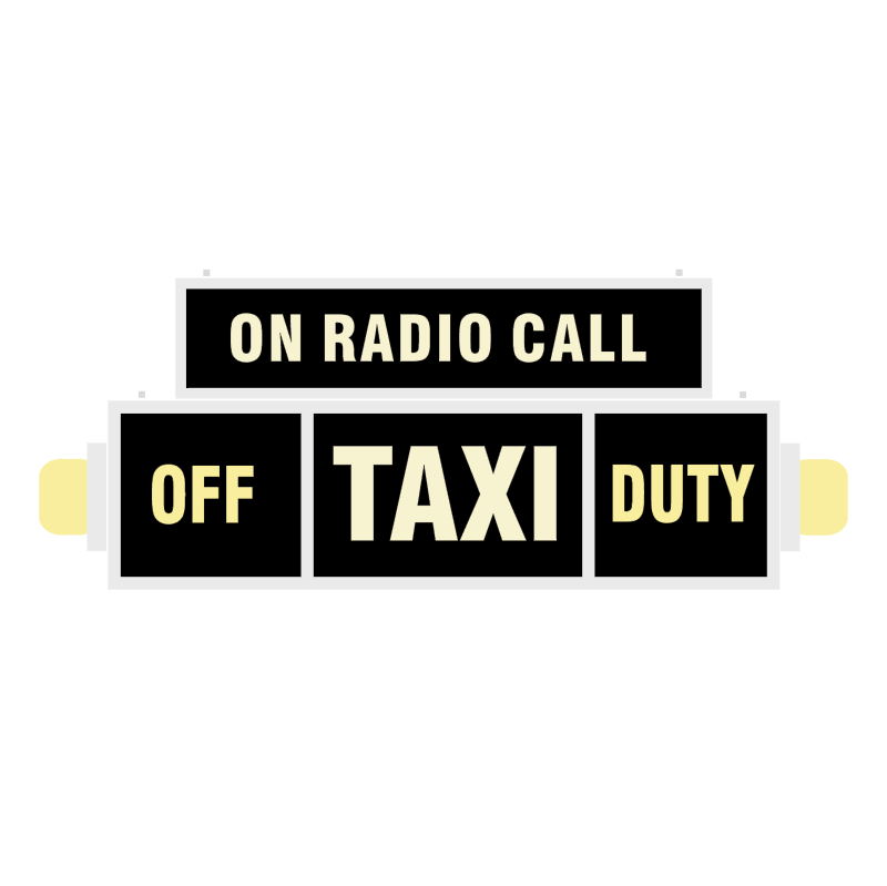 Taxi on Radio Call vector
