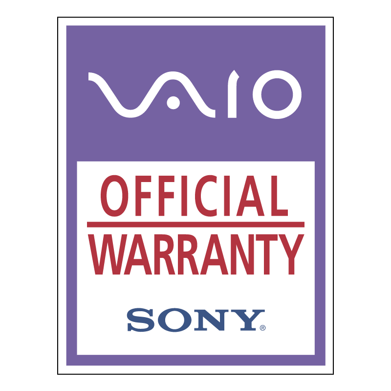 Vaio Official Warranty vector