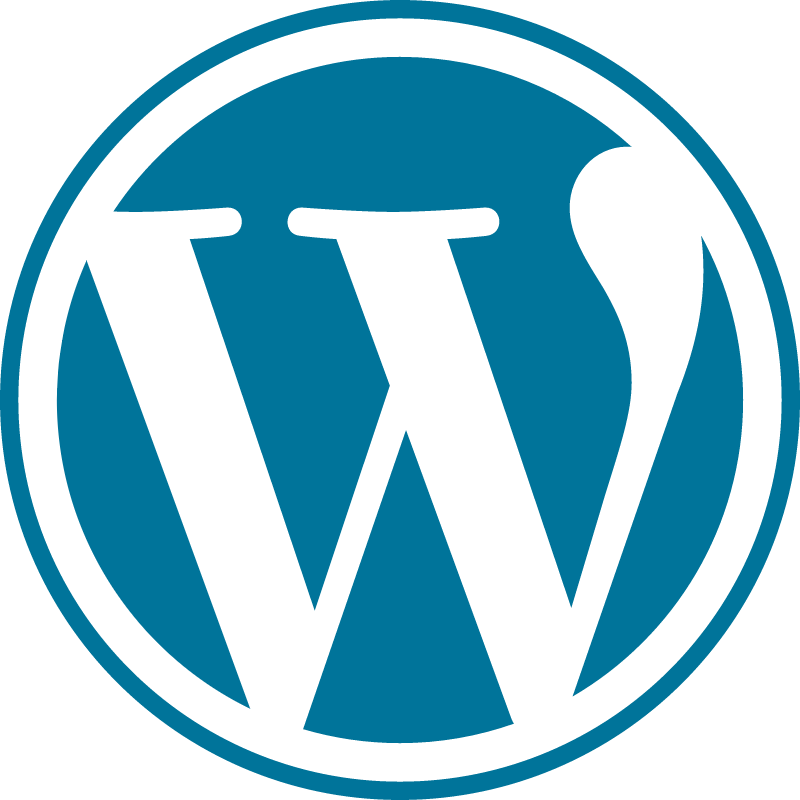 WordPress blue vector