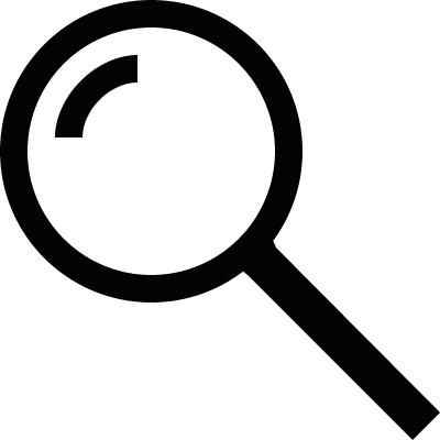 Magnifying Glass Searcher vector logo