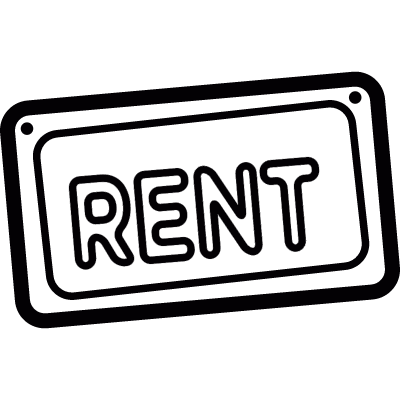 Rent signal vector logo