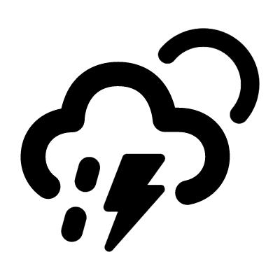 Drizlle and Lightning vector logo
