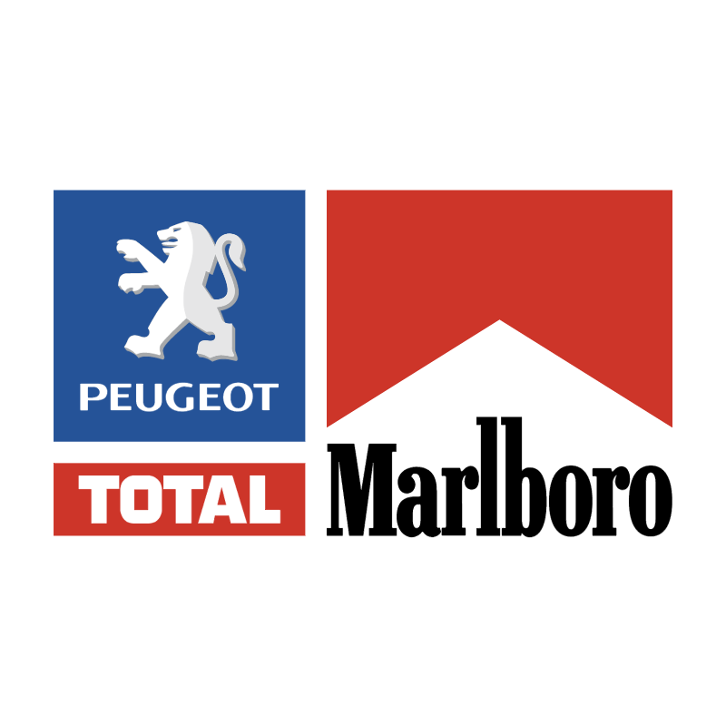 Peugeot Total Marlboro Team vector logo