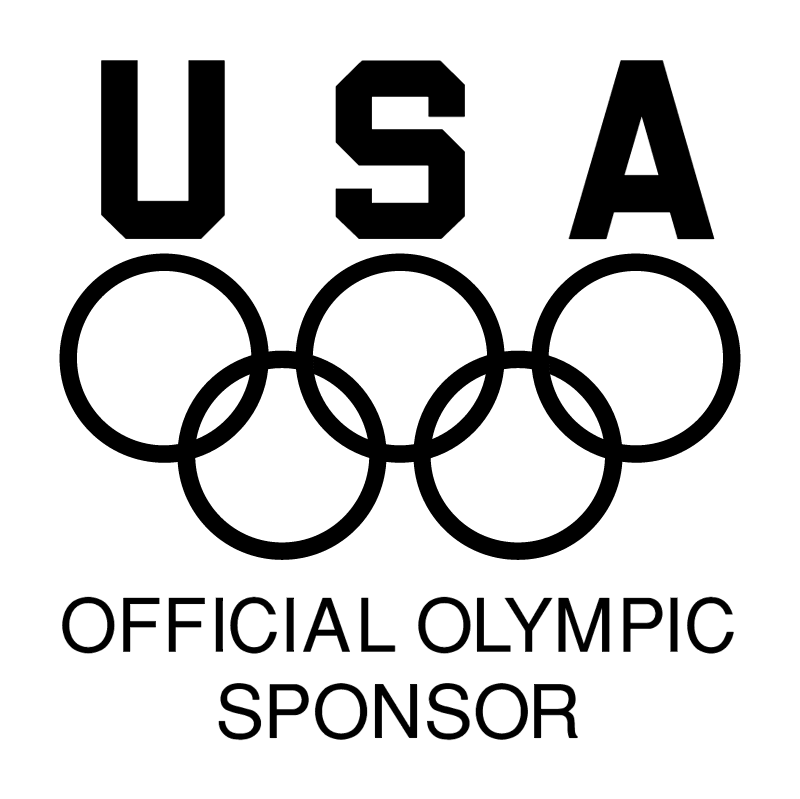 USA Official Olympic Sponsor vector