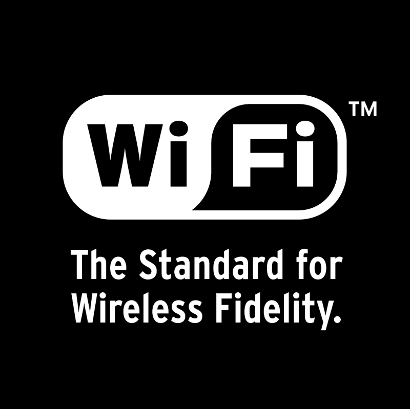Wifi standard for wireless fidelity vector logo