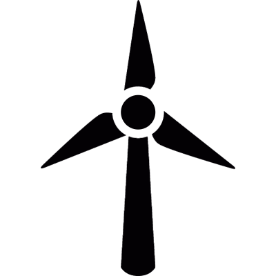 Turbine wind vector logo