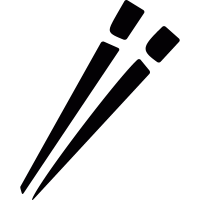 Japanese chopsticks vector