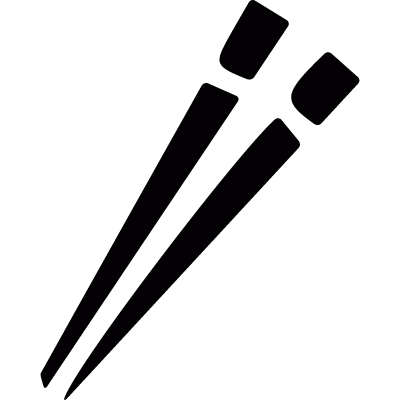 Japanese chopsticks vector logo