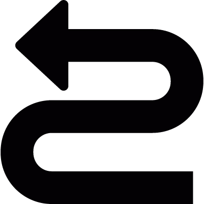 Curve to the right and left vector logo