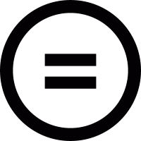 Equality sign vector