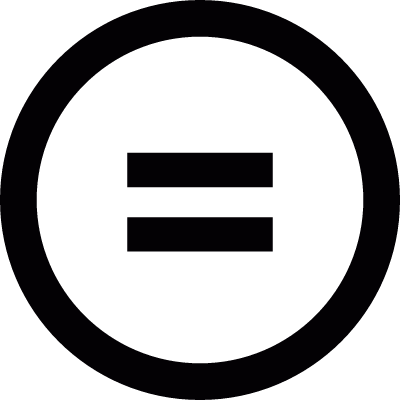 Equality sign vector logo