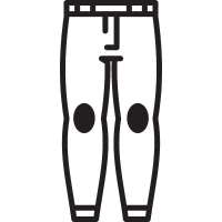 Women Trousers Front View vector